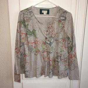 Anthropologie Henley Top Size S
